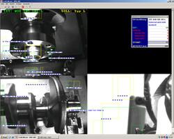 Kontrolle von Nockenwellen in der Motorenfertigung
